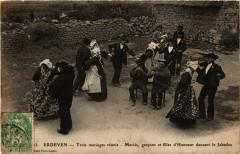 Erdeven Trois mariages reunis MARIEs garcons et filles d'Honneur - Erdeven