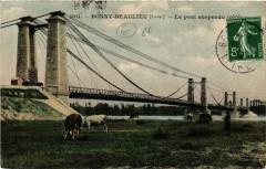 Bonny-sur-Loire - Beaulieu - Le pont suspendu - Bonny-sur-Loire