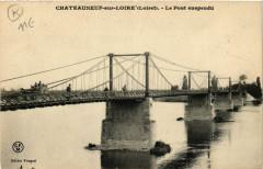 Chateauneuf-sur-Loire - Le Pont suspendu - Châteauneuf-sur-Loire