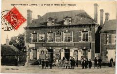 Ligny-le-Ribault - La Place et l'Hotel - Ligny-le-Ribault