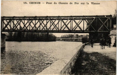 Chinon Pont du Chemin de Fer sur la Vienne - Chinon