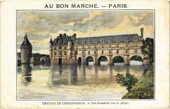 Chateau de Chenonceaux - Vue d'ensemble avec le donjon - Chenonceaux