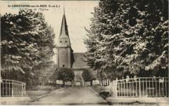 Saint-Christophe-sur-le-Nais La Place de l'Eglise - Saint-Christophe-sur-le-Nais
