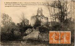 Chateau-la-Valliere - Ruines du Chateau Fort de Vaujours - Château-la-Vallière