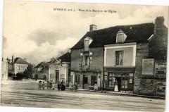 Esvres - Place de la Mairie et de l'Eglise - Esvres