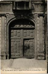 Richelieu - Détail d'une Porte de la Grande Rue 37 Richelieu