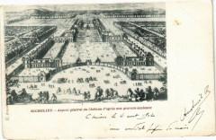Richelieu - aspect général du Chateau d'apres une gravure ancienne 37 Richelieu