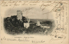 Lavardin-Ruines du Chateau - Lavardin
