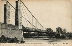 Villefranche-sur-Cher-Le Pont suspendu - Villefranche-sur-Cher
