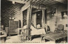Talcy - Interieur de Chateau - La Chambre du Roi Charles Ix - Talcy