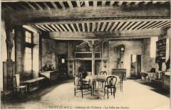 Talcy - Interieur de l'ancien Chateau feodal - La Salle des Gardes - Talcy