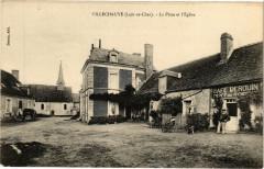 Villechauve (Loir-et-Cher) - La Place et l'Eglise - Villechauve