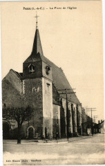 Pezou (L.-&-C.) - La Place de l'Eglise - Pezou