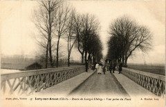 Lury-sur-Arnon - Route de Lury a Chéry - Vue prise du Pont - Lury-sur-Arnon