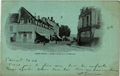 Saint-Amand-Montrond - La Place Mutin et la Rue Nationale 18 Saint-Amand-Montrond