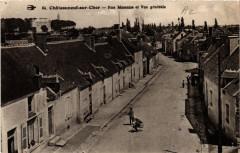 Chateauneuf-sur-Cher Rue Mozenne et Vue générale - Châteauneuf-sur-Cher