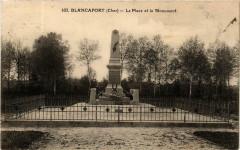 Blancafort Le Place et le Monument - Blancafort