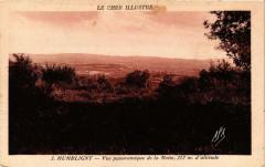 Humbligny Vue panoramique de la Motte, 322 m d'altitude - Humbligny