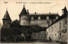Blet - Le Bureau de Poste et le Chateau - Blet