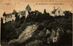 Culan Le Chateau et Eglise 18 Culan