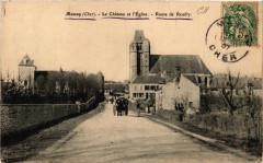 Massay Le Chateau et Eglise - Route de Reuilly - Massay