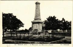 Vesdun - Le Monument aux Morts de la Guerre - Vesdun