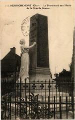 Henrichemont Le Monument aux Morts de la Grande Guerre - Henrichemont