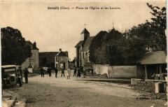 Genouilly Place de l'Eglise et les Lavoirs - Genouilly