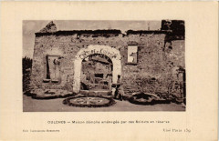 Oulches - Maison démolie aménagée par des Soldats en résérve - Oulches
