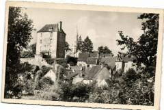 La Chatre - Perspective sur l'Eglise et la Prison - La Châtre