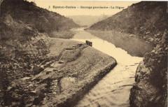 Eguzon-Cuzion - Barrage provisoire - La Digue - Cuzion