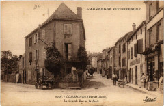 Combronde La Grande Rue et la Poste - Combronde