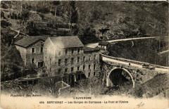 L'Auvergne Bertignat Les Gorges de Carcasse Le Pont et l'Usine - Bertignat