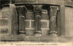 Chapiteux des Fonts baptismaux du Chambon pres de Murols 63 Murol