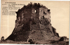 L'Auvergne G. D'O. - Chateau de Murols (Cote Sud) 63 Murol