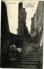 L'Auvergne - Puy-de-Dome-Murols-Ruines du Chateau Le grand Escalier 63 Murol