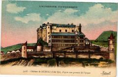 Chateau de Murols (Cote Est) d'apres une gravure de l'epoque 63 Murol
