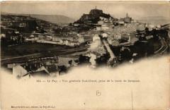 Le Puy - Vue generale Sud-Ouest, prise de la route de Saugues - Saugues