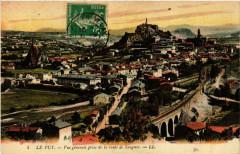 Le Puy - Vue generale prise de la route de Saugues - Saugues