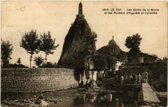 Le Puy-Les Bords de la Borne et les Rochers d'Aiguilhe et Corneille - Borne