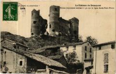 Chateau de Domeyrat-Ruines imposantes tombant a pic sur la ligne - Domeyrat