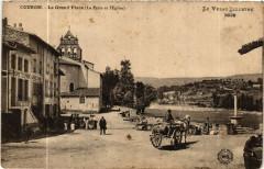 Coubon - La Grand'Place (La Poste et l'Eglise) -Le Velay Illustre - Coubon