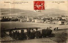 Costaros - Vue generale Sud-Est , prise de la Garde de Bessarioux - Costaros