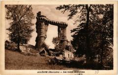 Allegre (Hte-Loire - Les ruines du Chateau - Allègre