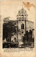 Environs du Puy - La facade romane de l'eglise de coubon dependance - Coubon