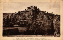 Goudet - Le Chateau de Beaufort (alt 830 m) ruines imposantes - Goudet