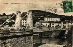 Coubon - Le Pont suspendu sur la Loire - Coubon
