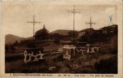 Solignac-sous-Roche (Hte-Loire) Alt 850 m Vue prise du Calvaire - Solignac-sous-Roche