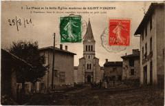 La Place et la belle Eglise moderne de Saint-Vincent - Saint-Vincent