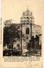 Env. du Puy - La facade romane de l'Eglise de Coubon - Coubon